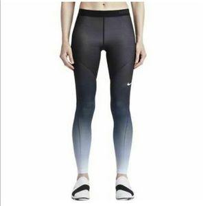 Womens Nike Pro Hyperwarm Ombre Fade Leggings